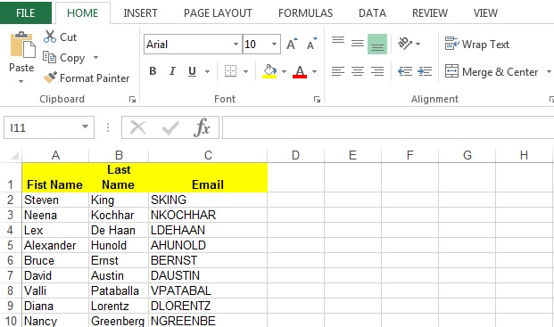 Excel output from PL SQL